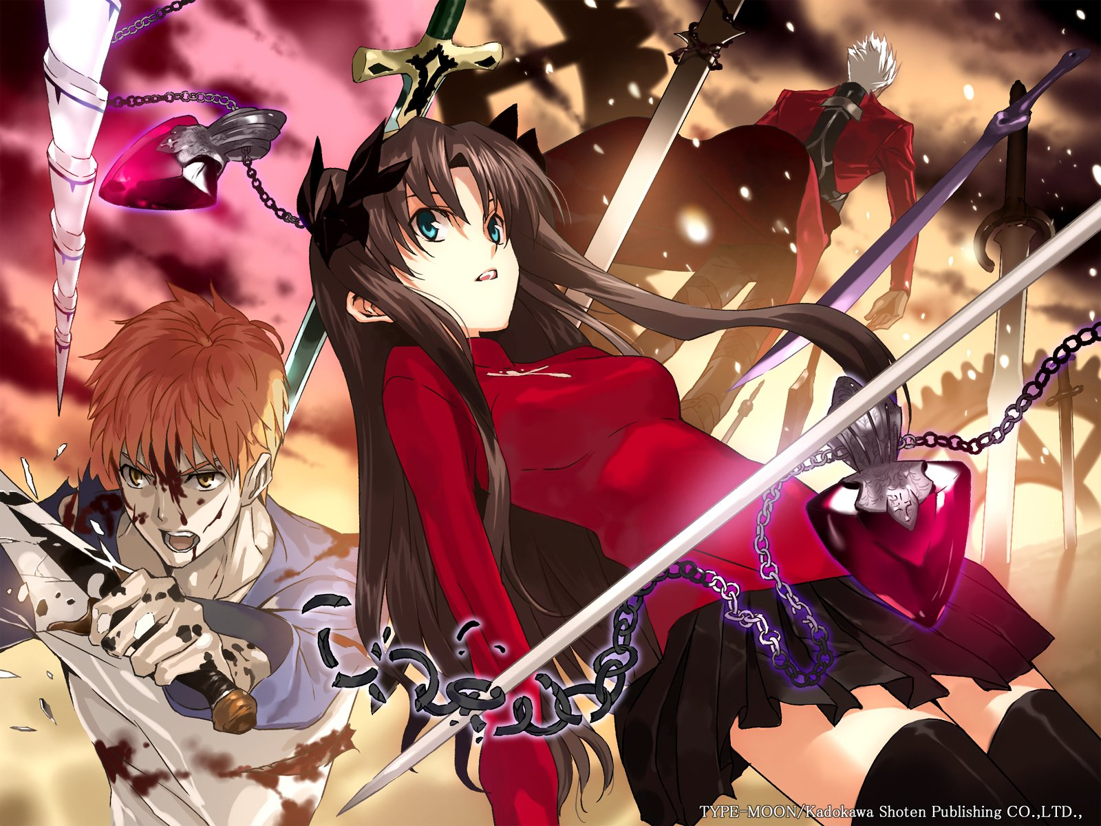 Anime - Fate/Stay Night  Rin Tohsaka Shirou Emiya Archer (Fate/Stay Night) Wallpaper