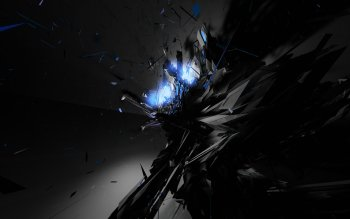 Abstract Dark Black Blue HD Wallpaper | Background Image