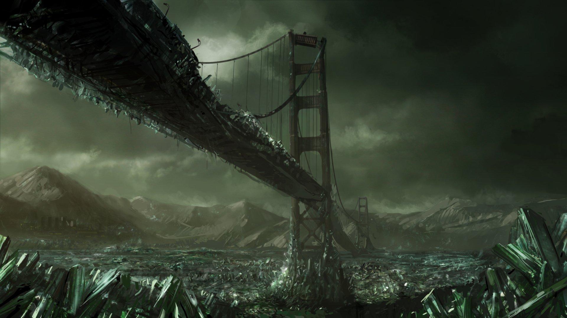 Sci Fi - Post Apocalyptic  Crystal Bridge Wallpaper