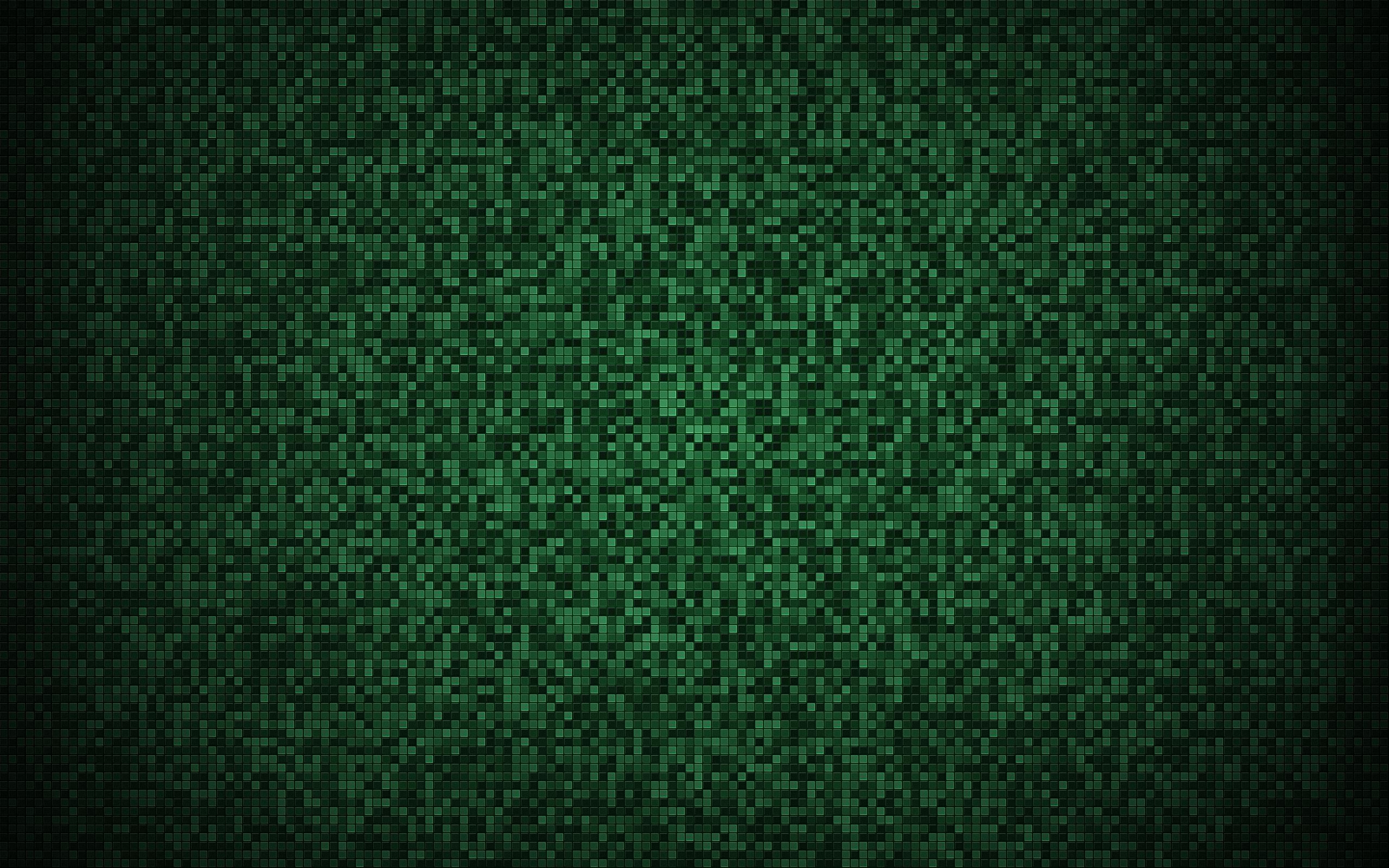 Patrón  - Squares  - Verde Fondo de Pantalla