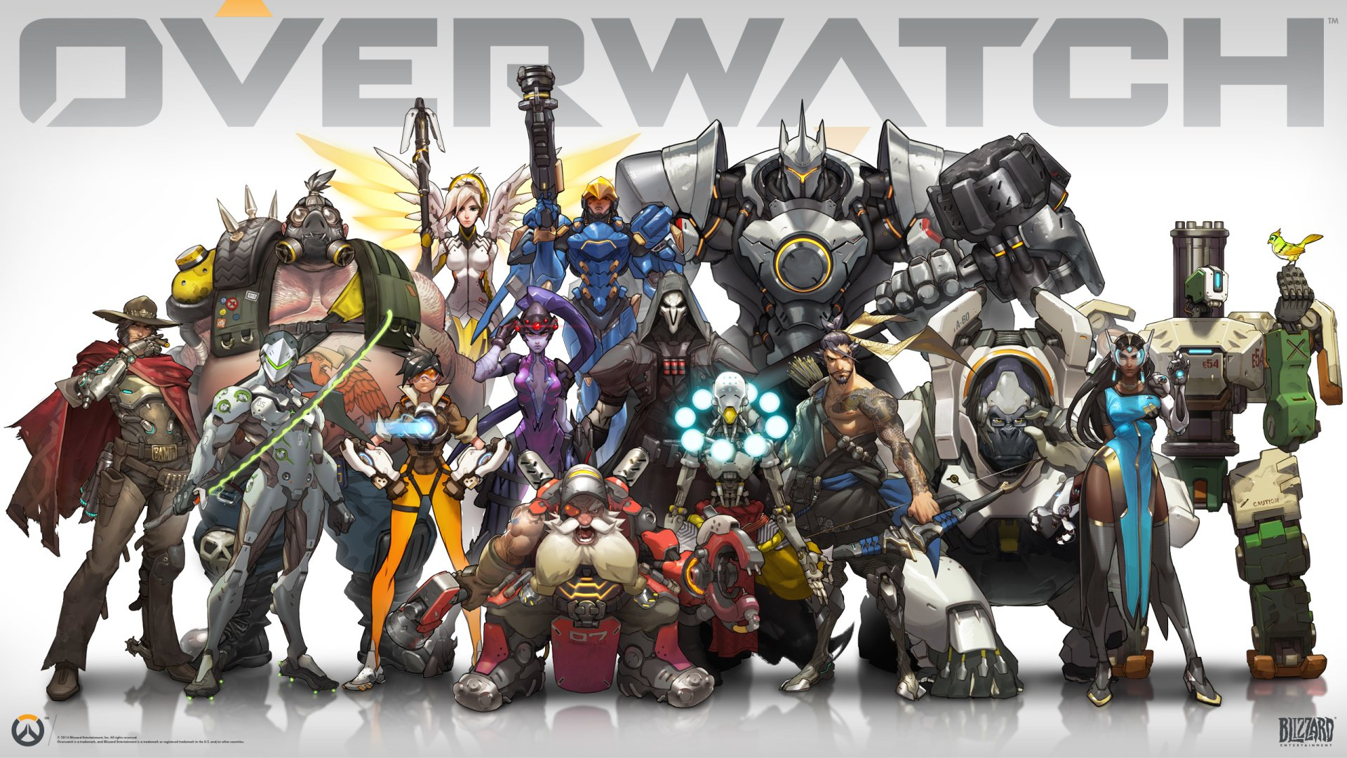 Video Game - Overwatch  Winston (Overwatch) Widowmaker (Overwatch) Reaper (Overwatch) Pharah (Overwatch) Hanzo (Overwatch) Zenyatta (Overwatch) Reinhardt (Overwatch) Torbjörn (Overwatch) Tracer (Overwatch) Bastion (Overwatch) Mercy (Overwatch) McCree (Overwatch) Genji (Overwatch) Roadhog (Overwatch) Symmetra (Overwatch) Wallpaper