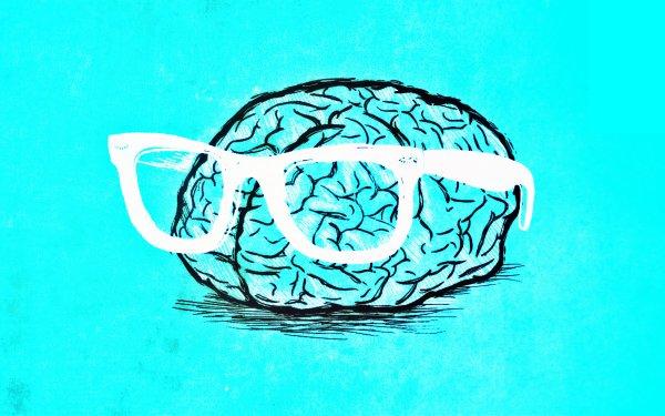 Humor Nerd Brain Weird Blue HD Wallpaper   Background Image