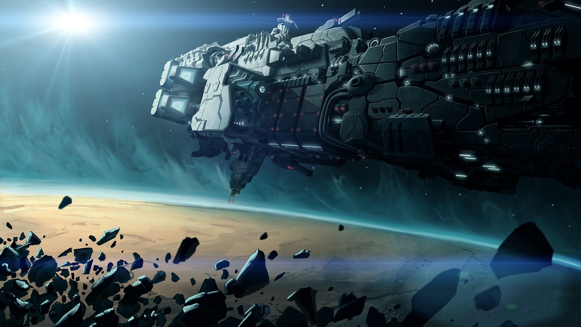 Spaceship full hd wallpaper and background 1920x1080 for Sci fi background