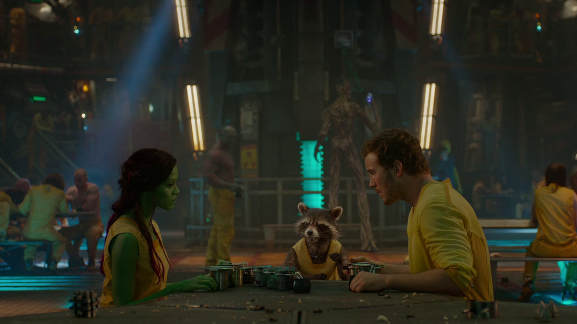 Movie - Guardians of the Galaxy  Chris Pratt Zoe Saldana Peter Quill Gamora Rocket Raccoon Wallpaper