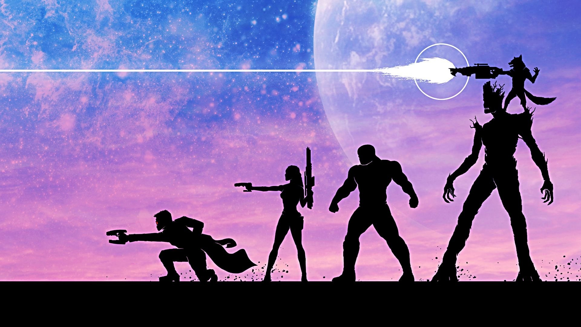 Movie - Guardians of the Galaxy  Groot Rocket Raccoon Drax The Destroyer Gamora Peter Quill Wallpaper