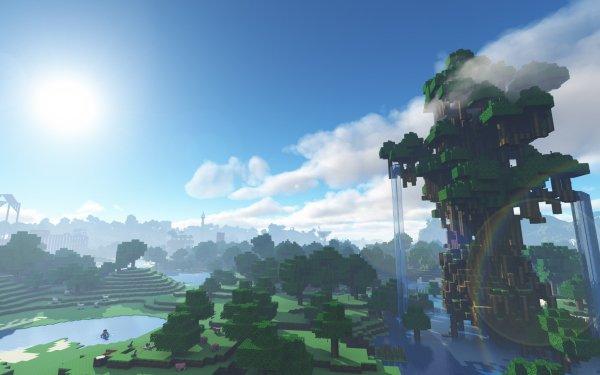 Videojuego Minecraft Mojang Jungla Cielo Bosque Árbol Fondo de pantalla HD   Fondo de Escritorio