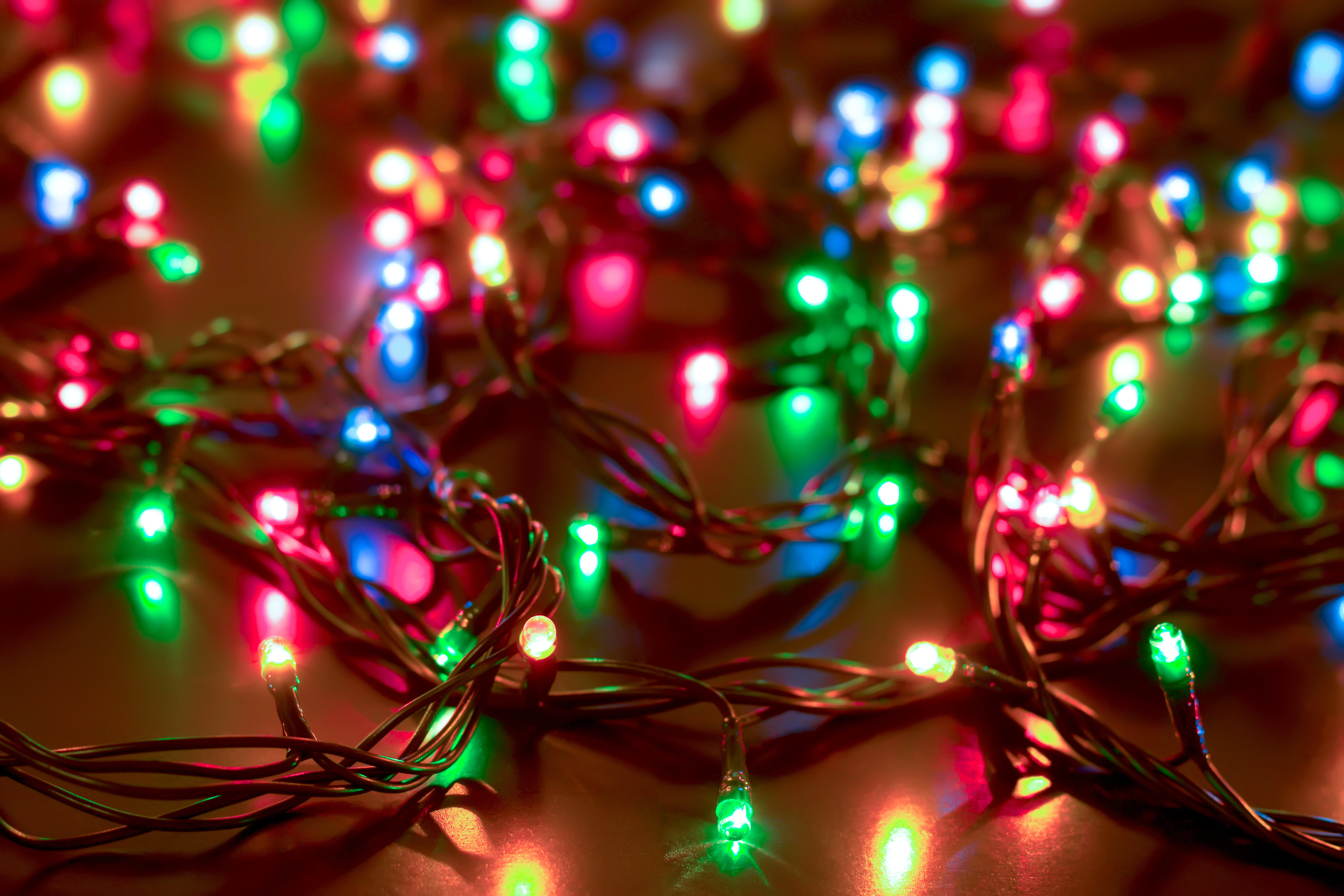 Christmas Lights 4k Ultra Hd Wallpaper Background Image