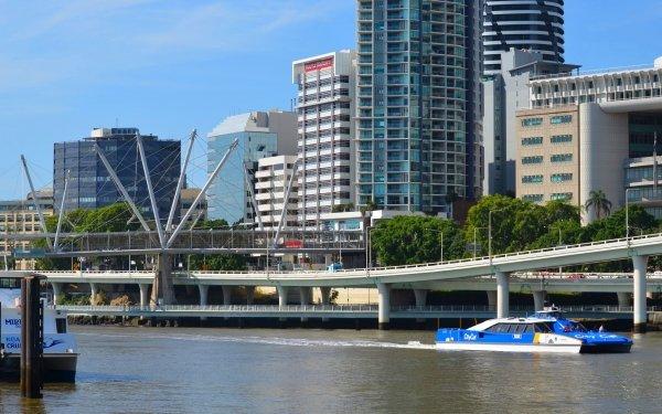Hecho por el hombre Brisbane Ciudades Australia Edificio Ferry Barco Rio Queensland Fondo de pantalla HD | Fondo de Escritorio