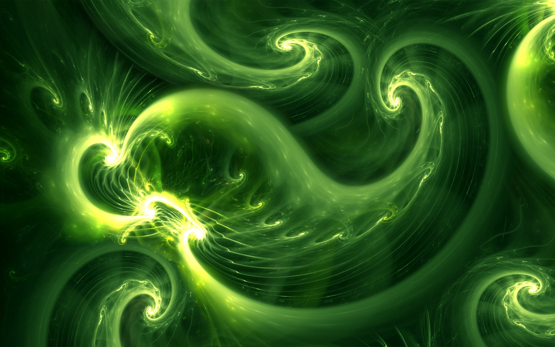 Abstract - Green  Colors Shapes Pattern Texture Light Artistic Abstract Wallpaper