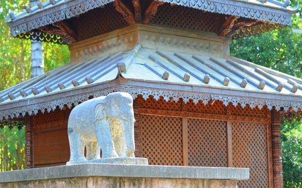 Man Made Nepalese Pagoda Statue Elephant Pagoda Brisbane Architecture Australia HD Wallpaper   Background Image