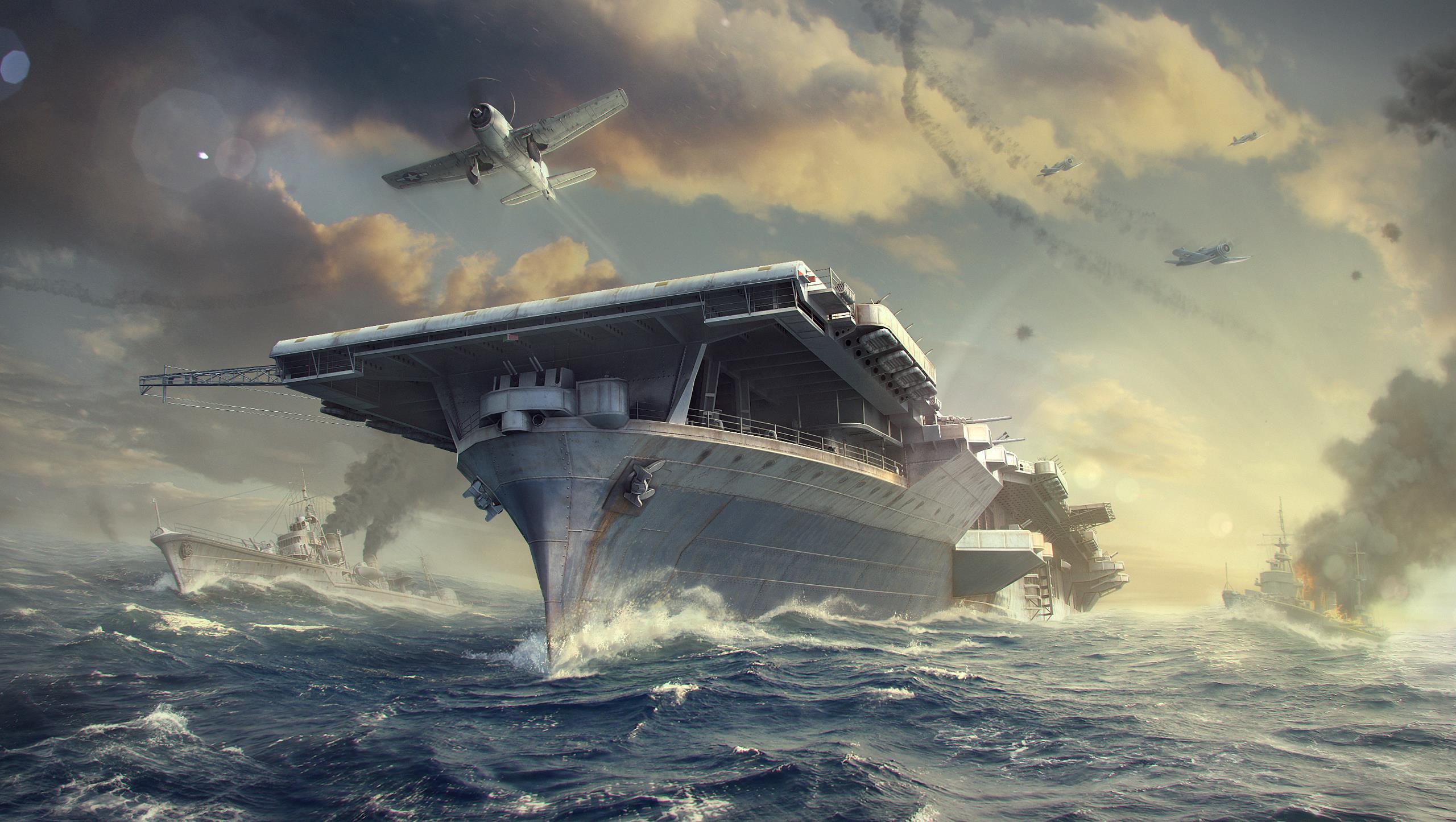 World Of Warships Fond Décran Hd Arrière Plan 2560x1445 Id
