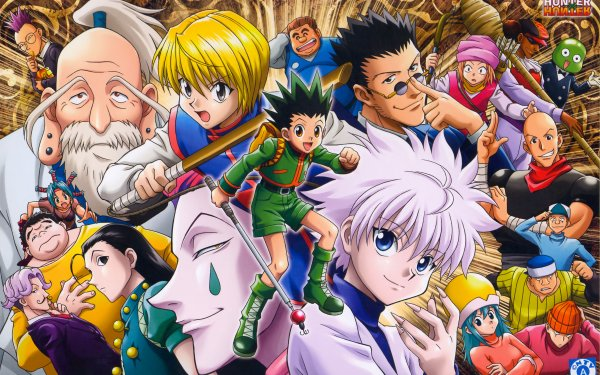 Anime Hunter x Hunter Gon Freecss Killua Zoldyck Leorio Paradinight Kurapika Fondo de pantalla HD | Fondo de Escritorio