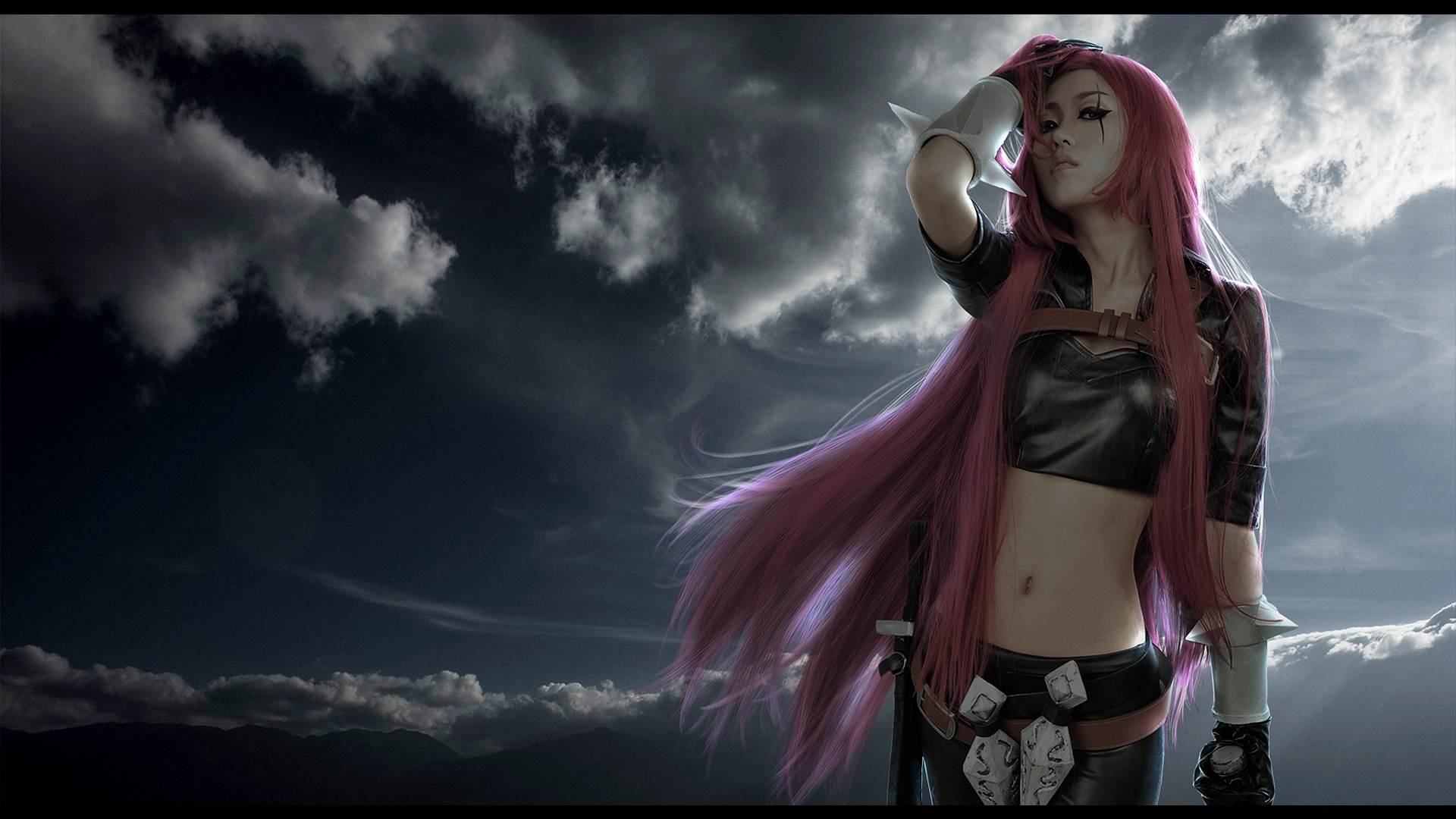 Katarina League Of Legends Cosplay Hd Wallpaper