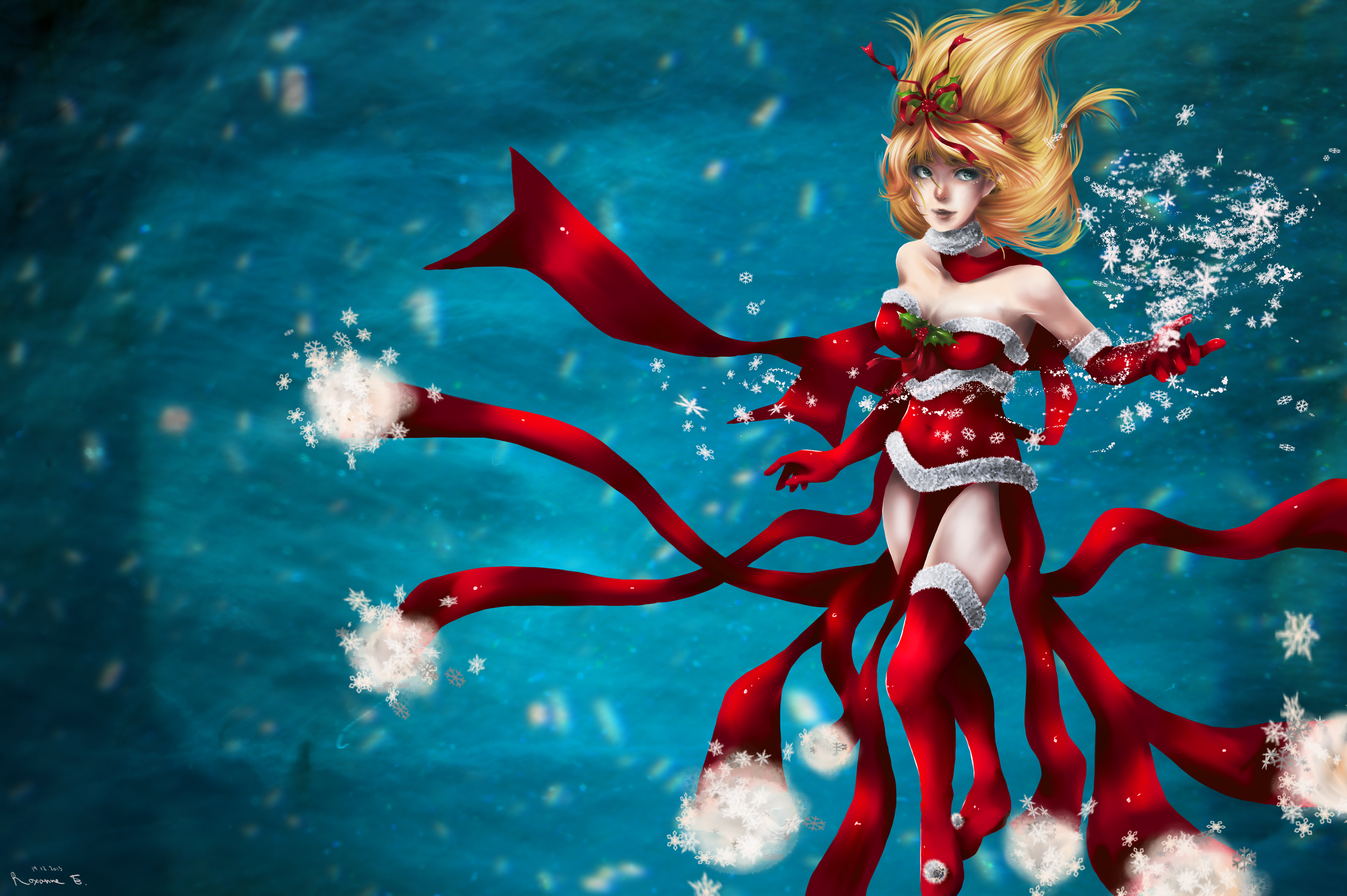 League Of Legends Christmas Janna 4k Ultra Hd Wallpaper