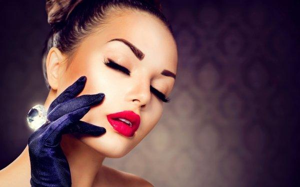 Women Judy Wilkins Models Woman Girl Face Close-Up HD Wallpaper | Background Image