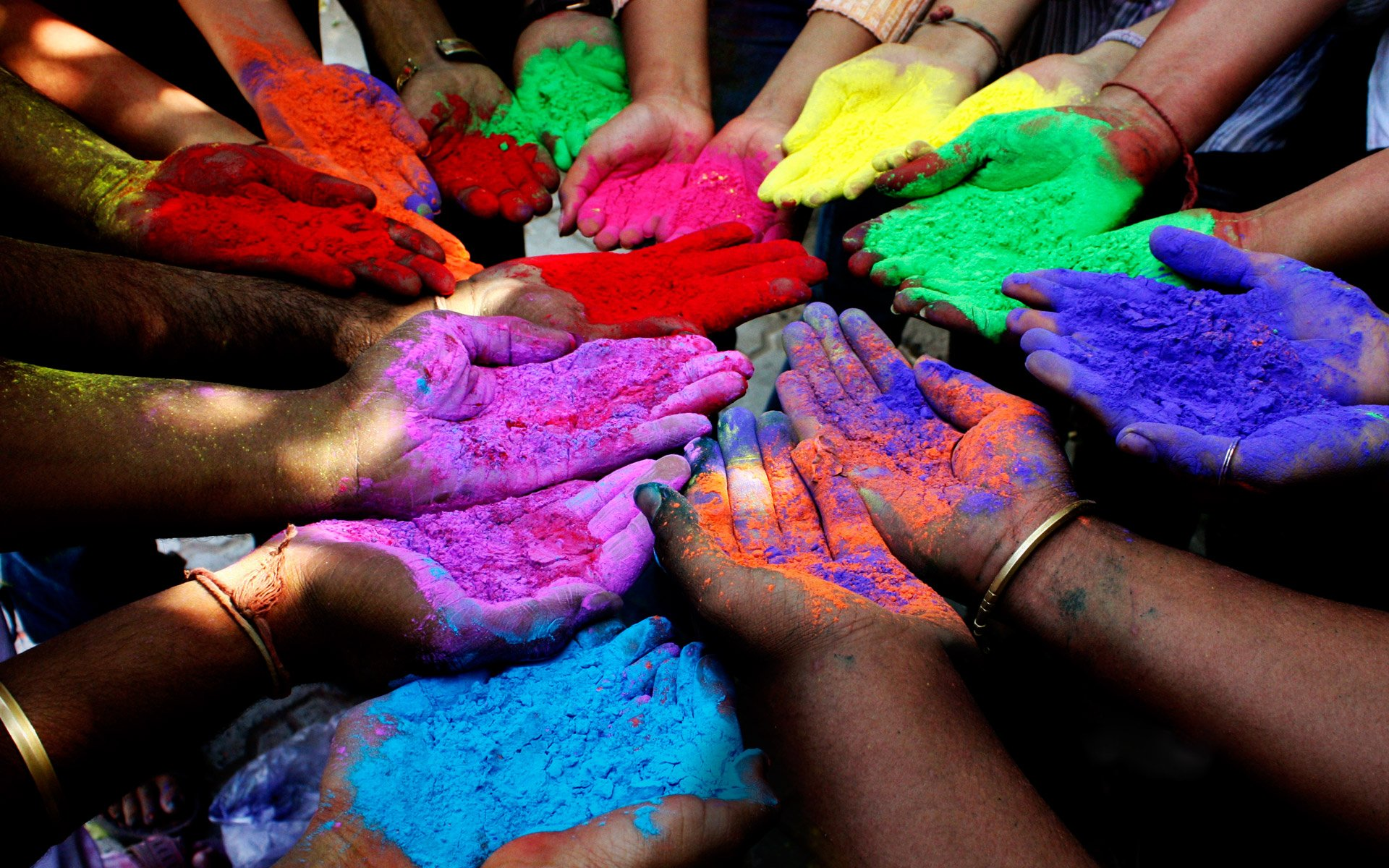 Holiday - Holi  Colors Hand Wallpaper