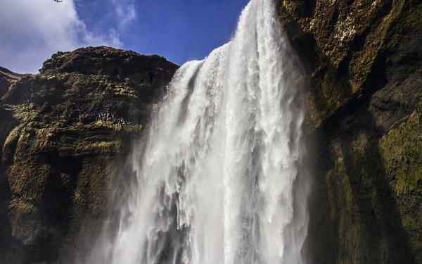 Earth Skógafoss Waterfalls Iceland HD Wallpaper | Background Image