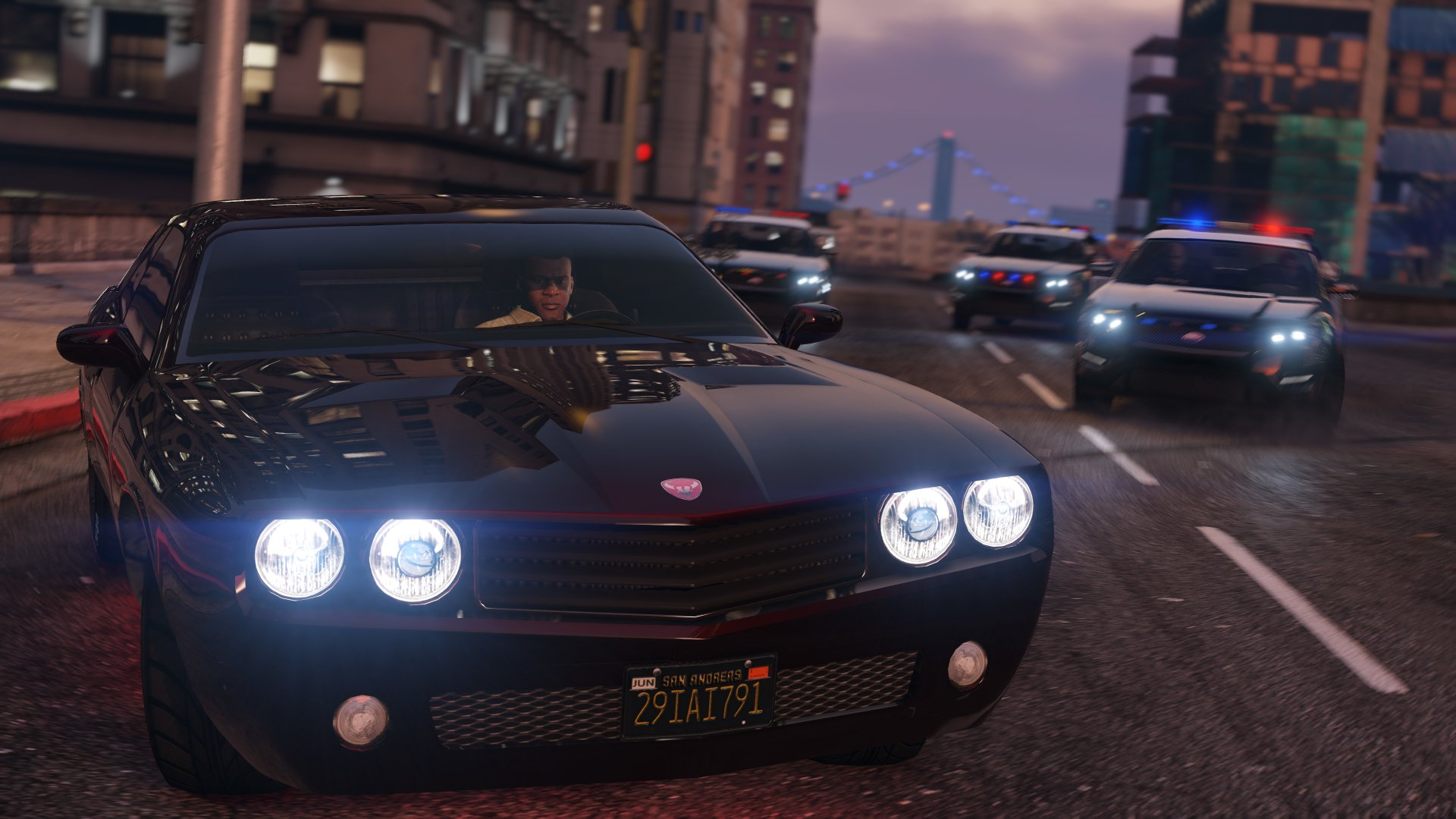 Video Game - Grand Theft Auto V  Franklin Clinton Police Car Wallpaper