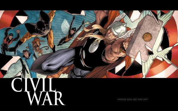 Bande-dessinées Civil War Mister Fantastic Thor Wasp Janet van Dyne Tigra Wonder Man Yellowjacket Fond d'écran HD | Image