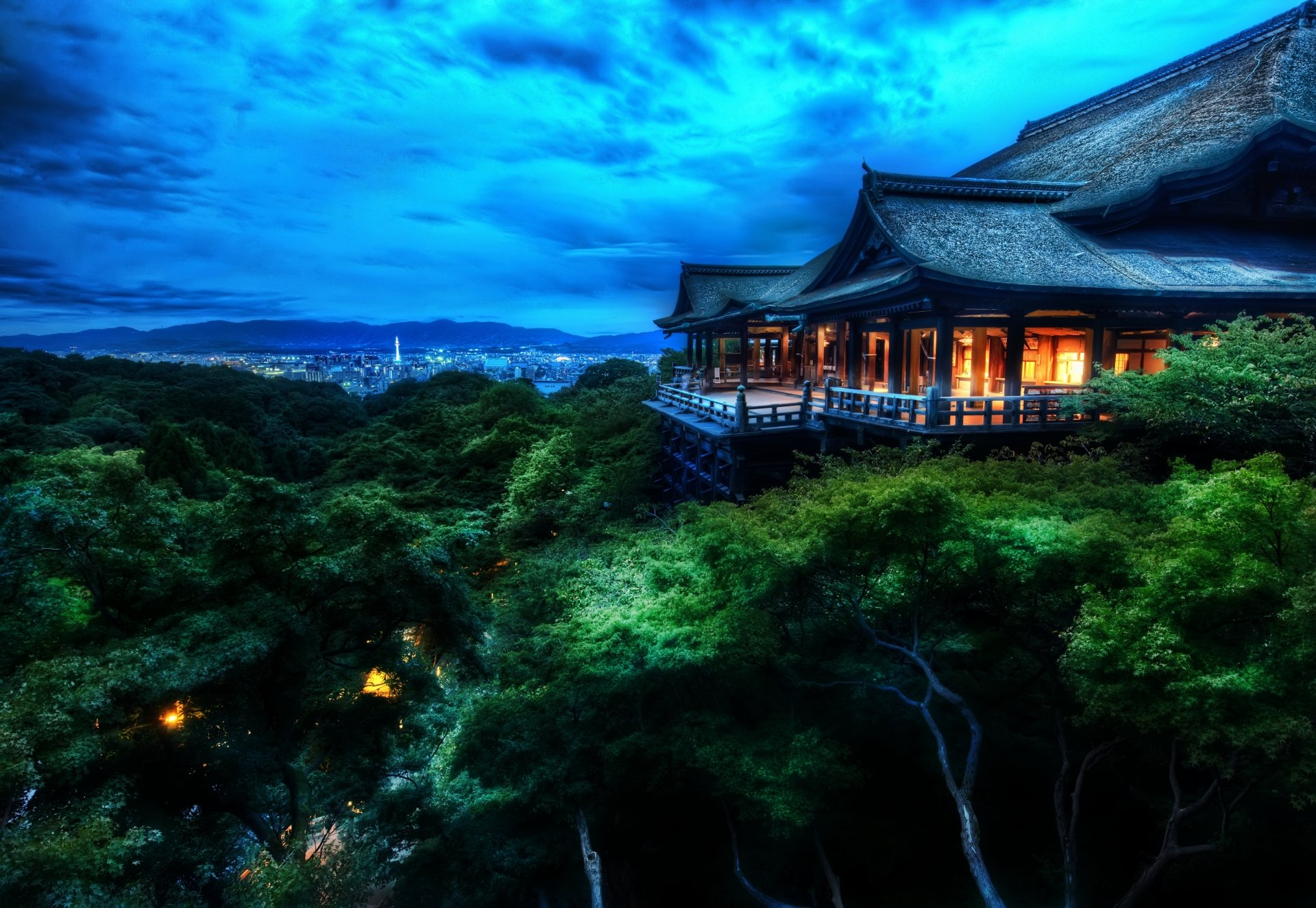 Religious - Kiyomizu-dera  Tree Japan Japanese Night Architecture Temple Religious Buddhism Kyoto Buddhist Temple Otowa-san Kiyomizu-dera Wallpaper