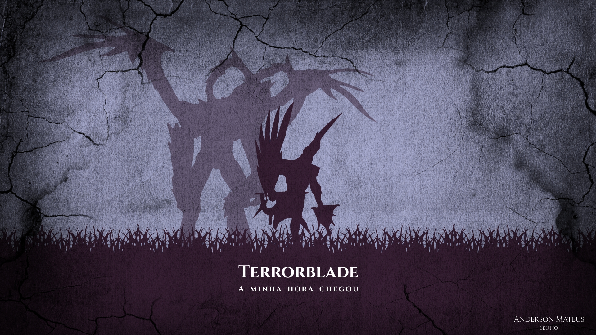 Terrorblade Minimalista Full HD Wallpaper And Background Image