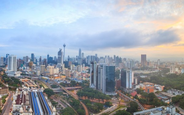 Man Made Kuala Lumpur Cities Malaysia Panorama HD Wallpaper | Background Image