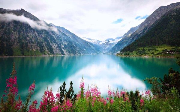 Tierra/Naturaleza Lago Lagos Montaña Flor Naturaleza Paisaje Turquesa Fondo de pantalla HD | Fondo de Escritorio