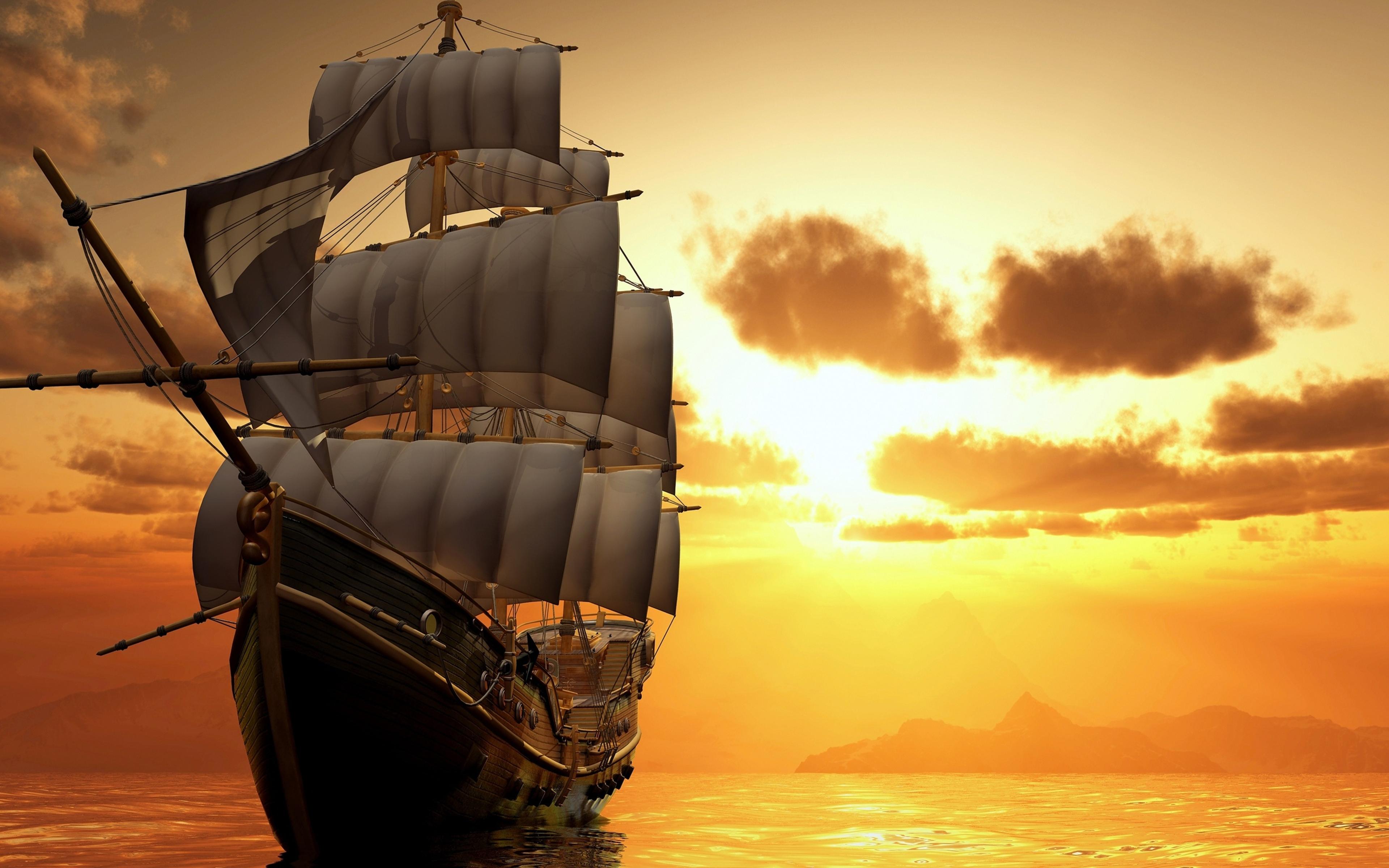 Sailing Ship k Ultra HD Fond décran and Arrièreplan x