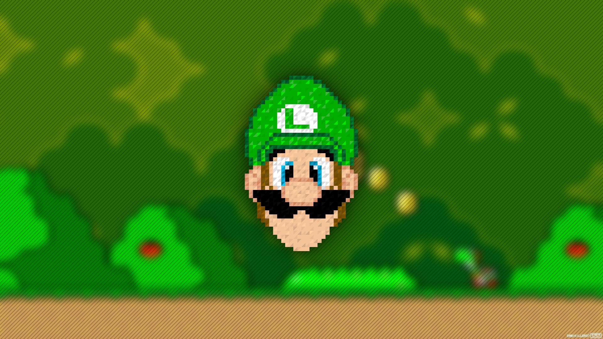 Videojuego - Super Mario World  Luigi Super Mario Pixel Art Fondo de Pantalla