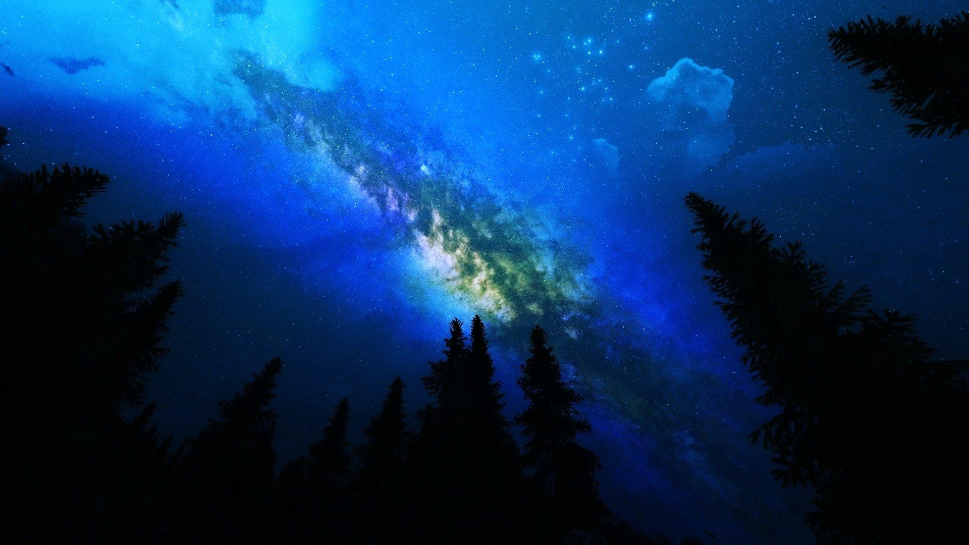 Sci Fi - Milky Way  Space Galaxy Landscape Sky Stars Wallpaper