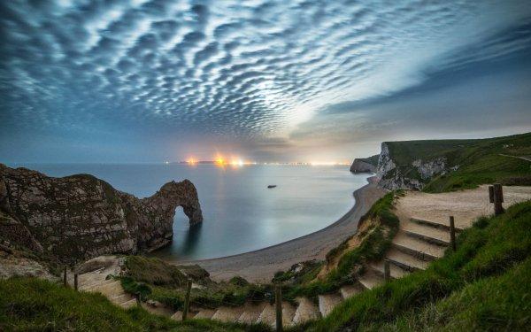 Earth Durdle Door Dorset England Shore Coast Sea Cloud Coastline Limestone HD Wallpaper | Background Image