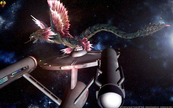 TV Show Star Trek: The Original Series Star Trek Kukulkan Sci Fi Futuristic Spaceship Enterprise HD Wallpaper | Background Image