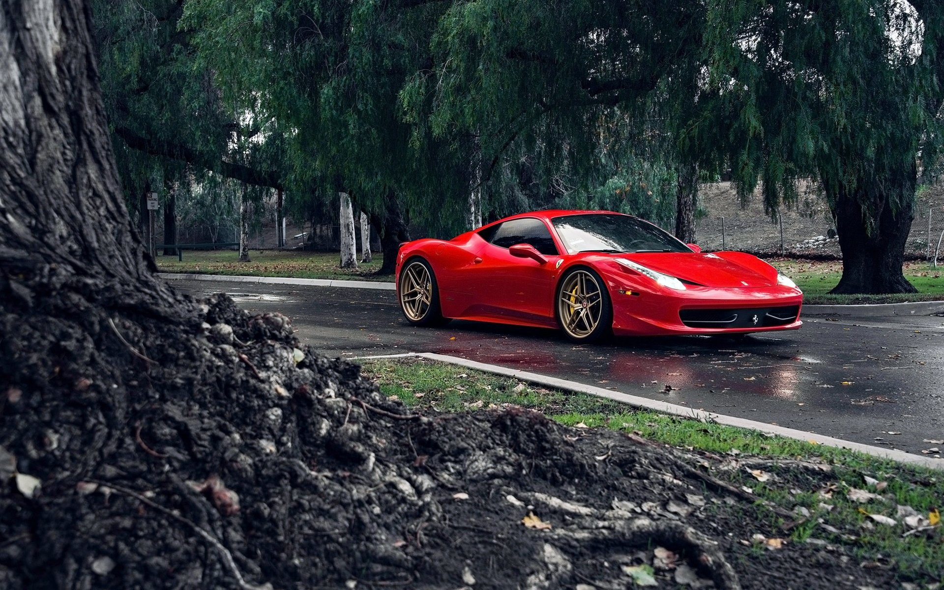Vehicles - Ferrari 458 Italia  Ferrari 458 Car Red Car Supercar Ferrari Wallpaper