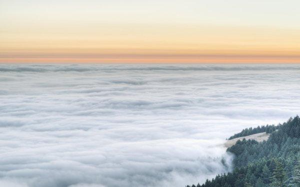 Earth Fog Nature Cloud Landscape Sunset Horizon HD Wallpaper | Background Image