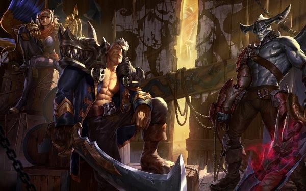 Video Game League Of Legends Quinn Garen Aatrox HD Wallpaper | Background Image