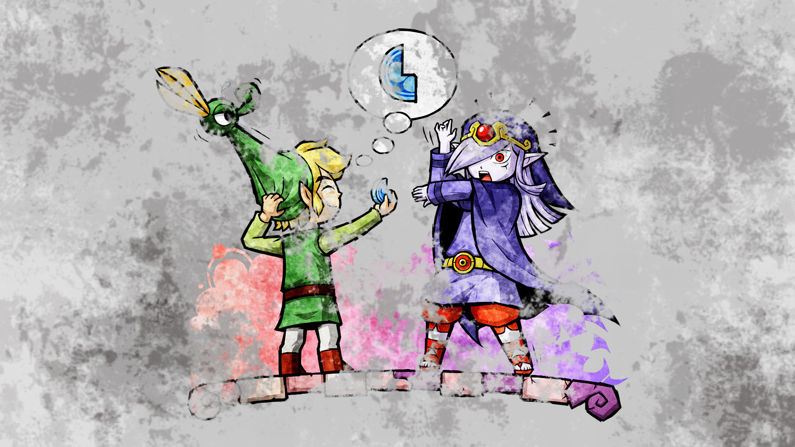 Zelda Minish Cap Wallpaper Link And Vaati Background
