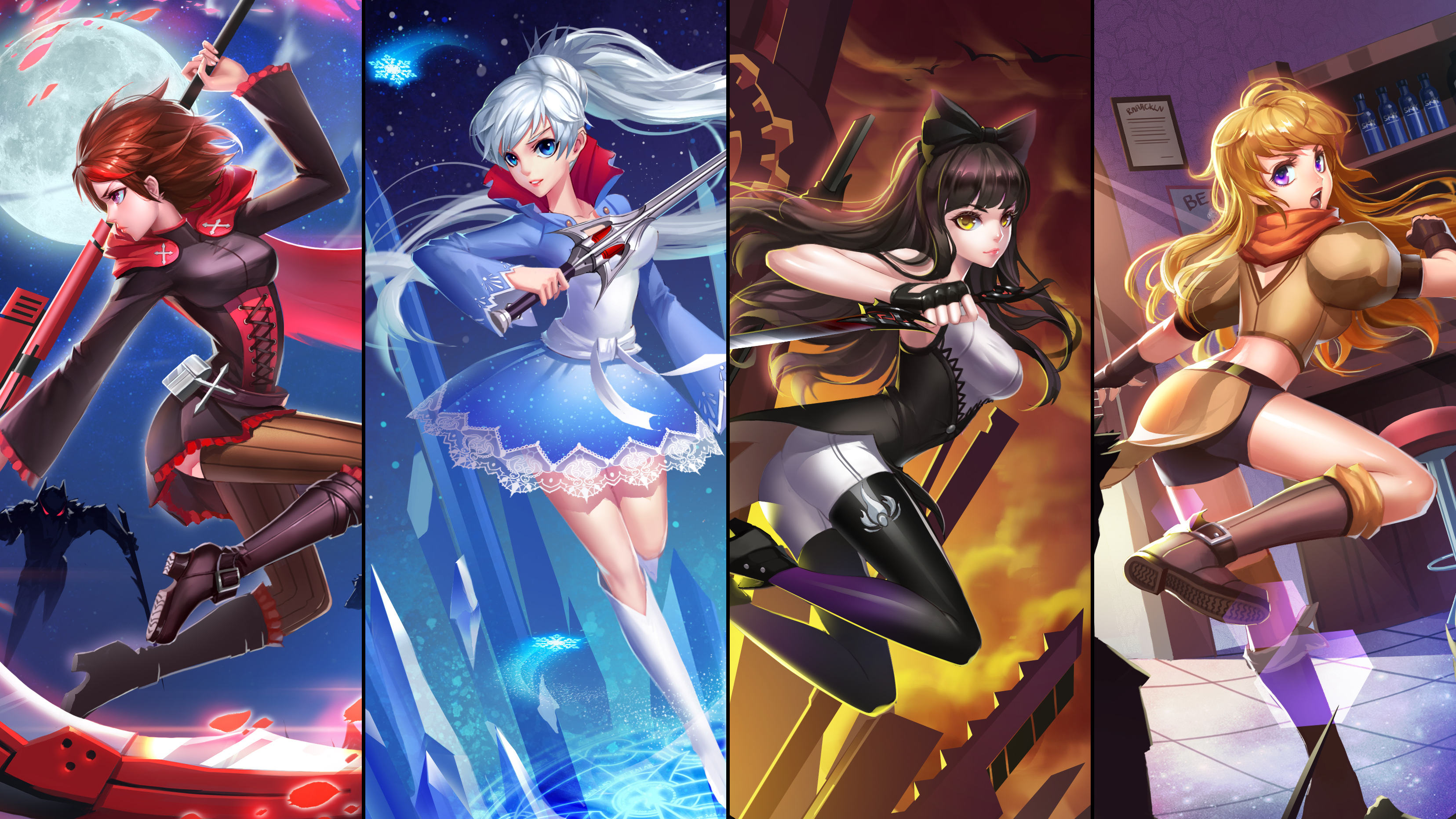 rwby full hd wallpaper and background 3312x1863 id607156