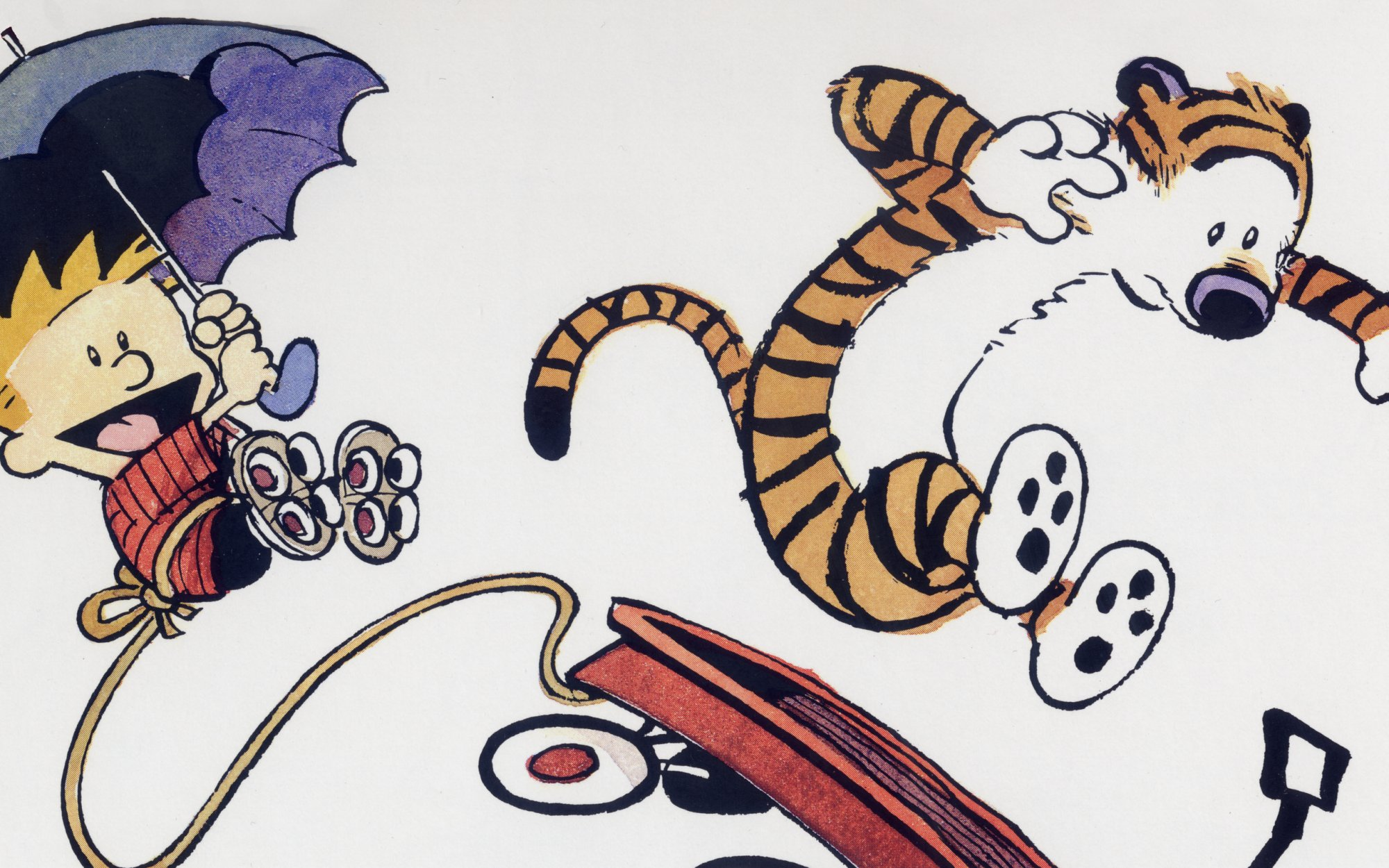 Fumetti - Calvin & Hobbes  Hobbes (Calvin & Hobbes) Calvin (Calvin & Hobbes) Sfondo