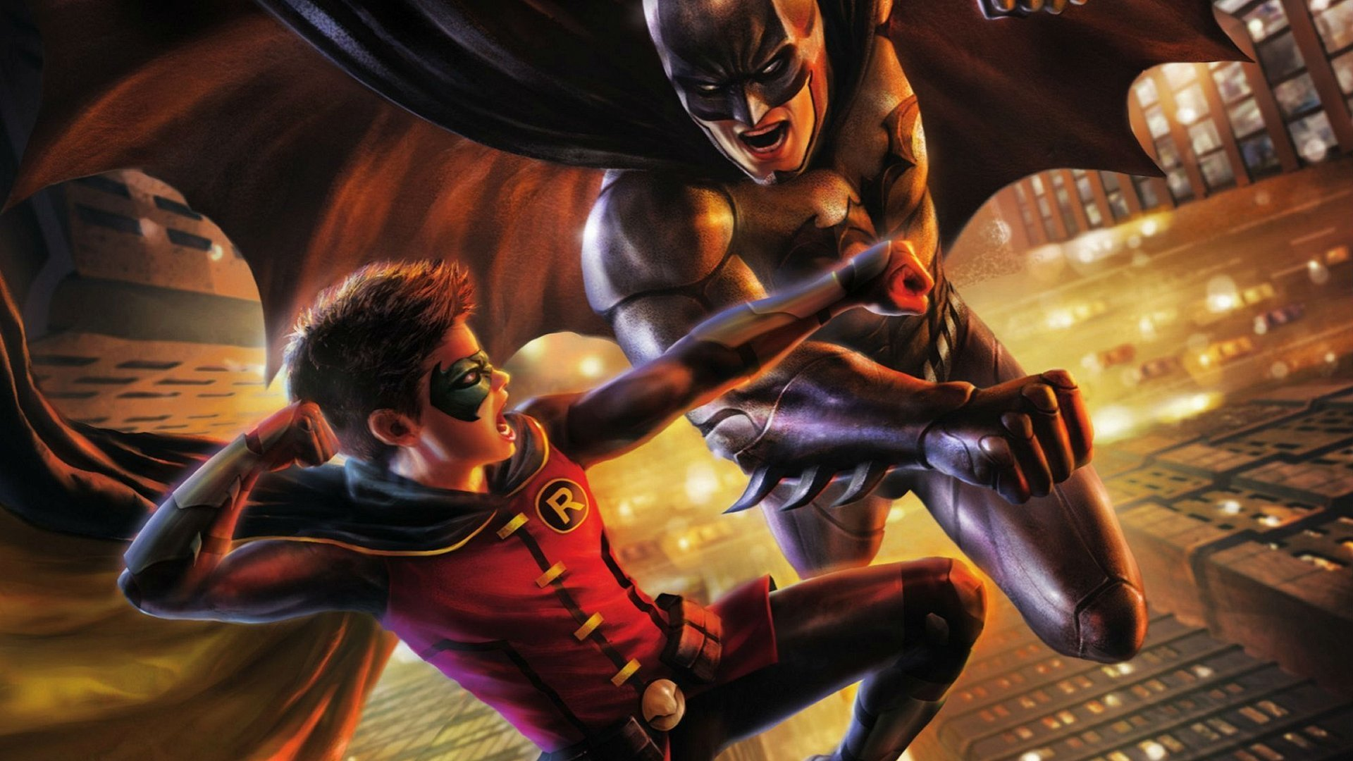 2 batman vs robin hd wallpapers backgrounds wallpaper abyss - Image de batman et robin ...
