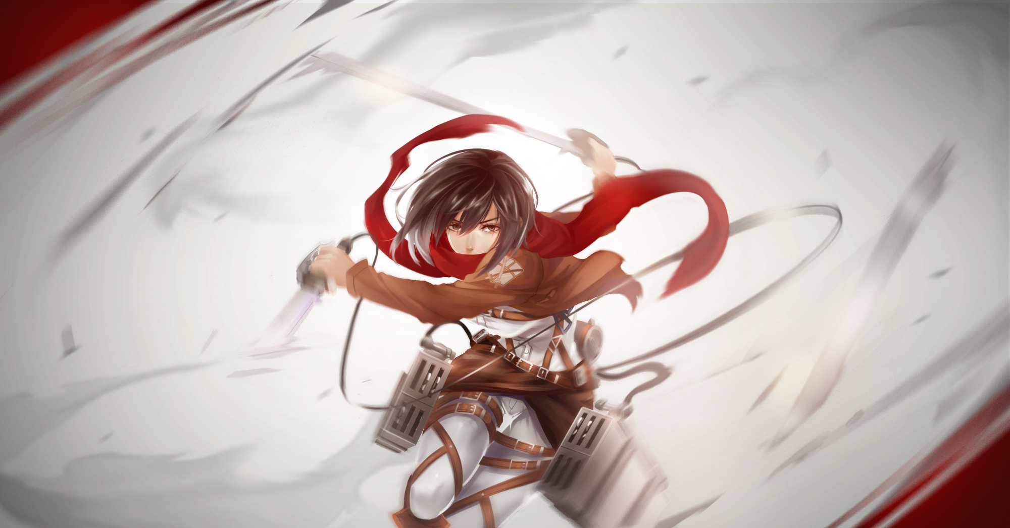 Shingeki No Kyojin Mikasa Wallpaper And Background Image 2000x1046 Id 607700 Wallpaper Abyss