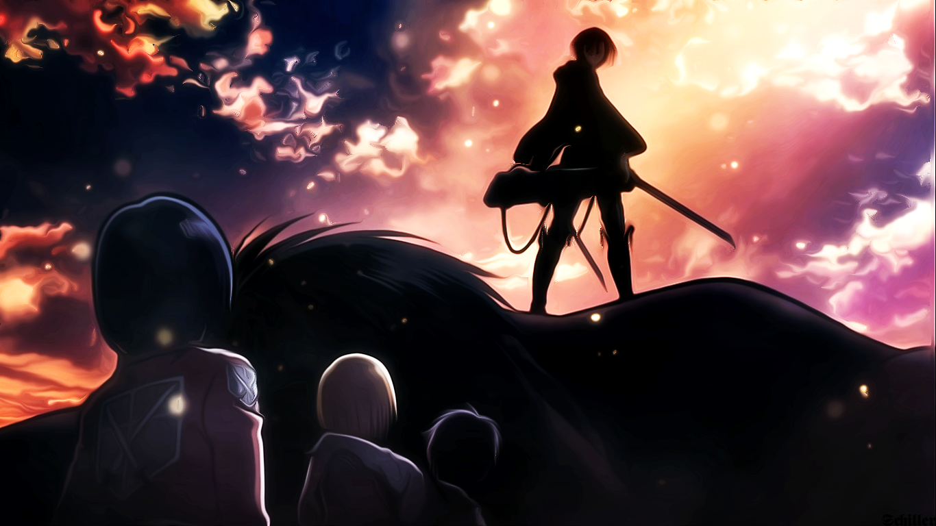 Anime - Attack On Titan  Levi Ackerman Shingeki No Kyojin Mikasa Ackerman Armin Arlert Wallpaper