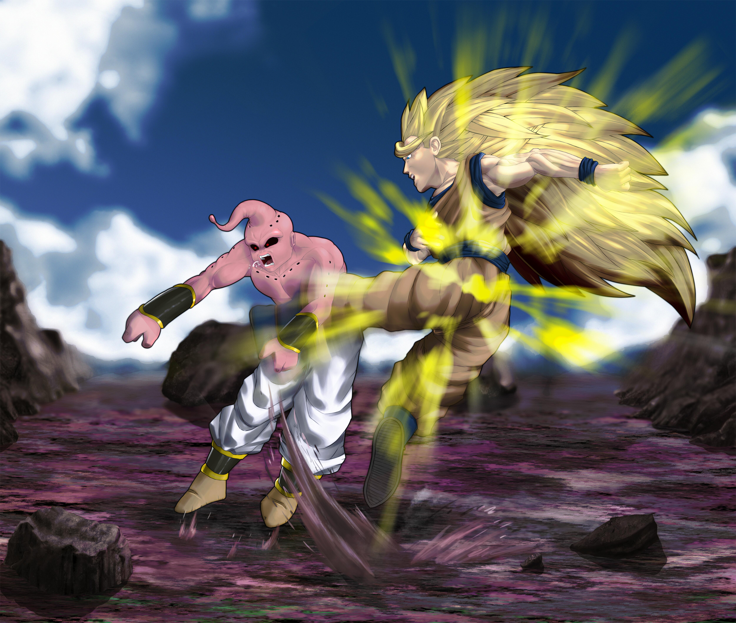 Majin Buu Wallpaper: Goku Vs Buu Full HD Wallpaper And Background Image
