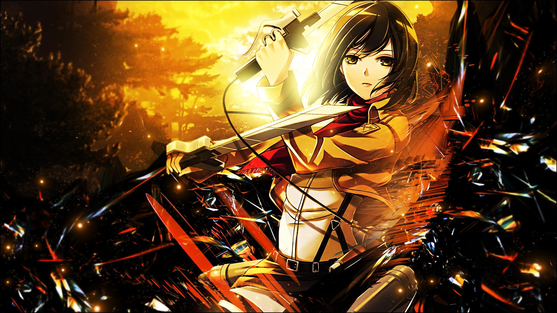 Mikasa Ackerman Hd Wallpaper Background Image 1920x1080