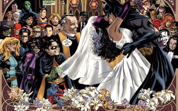 Comics Batman Robin Catwoman Harley Quinn Joker Poison Ivy Riddler Superman Wonder Woman Flash Martian Manhunter Huntress Atom Penguin Kyle Rayner Wally West Tim Drake Aquaman HD Wallpaper | Background Image