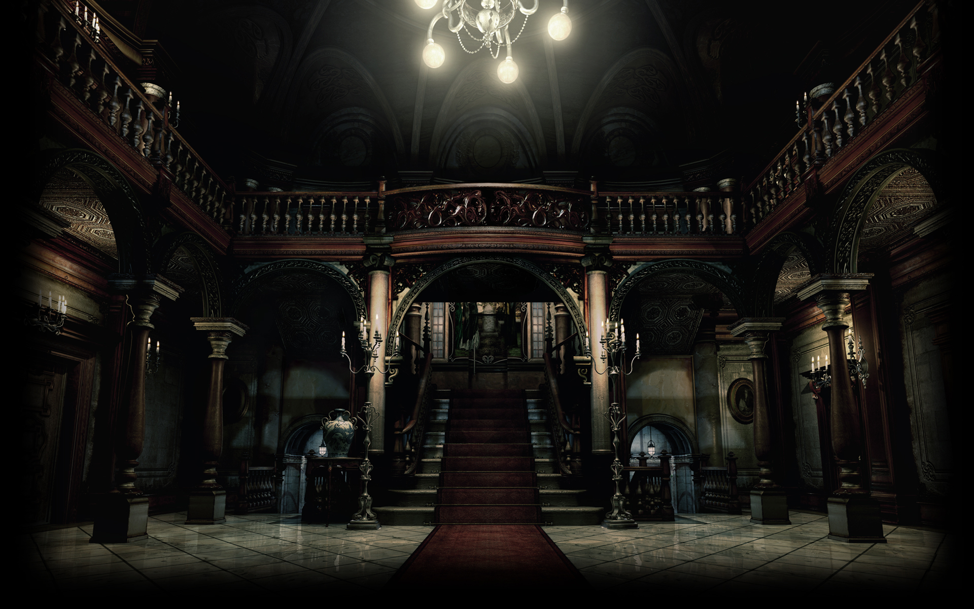 Foyer Wallpaper Game : Resident evil biohazard hd remaster wallpapers