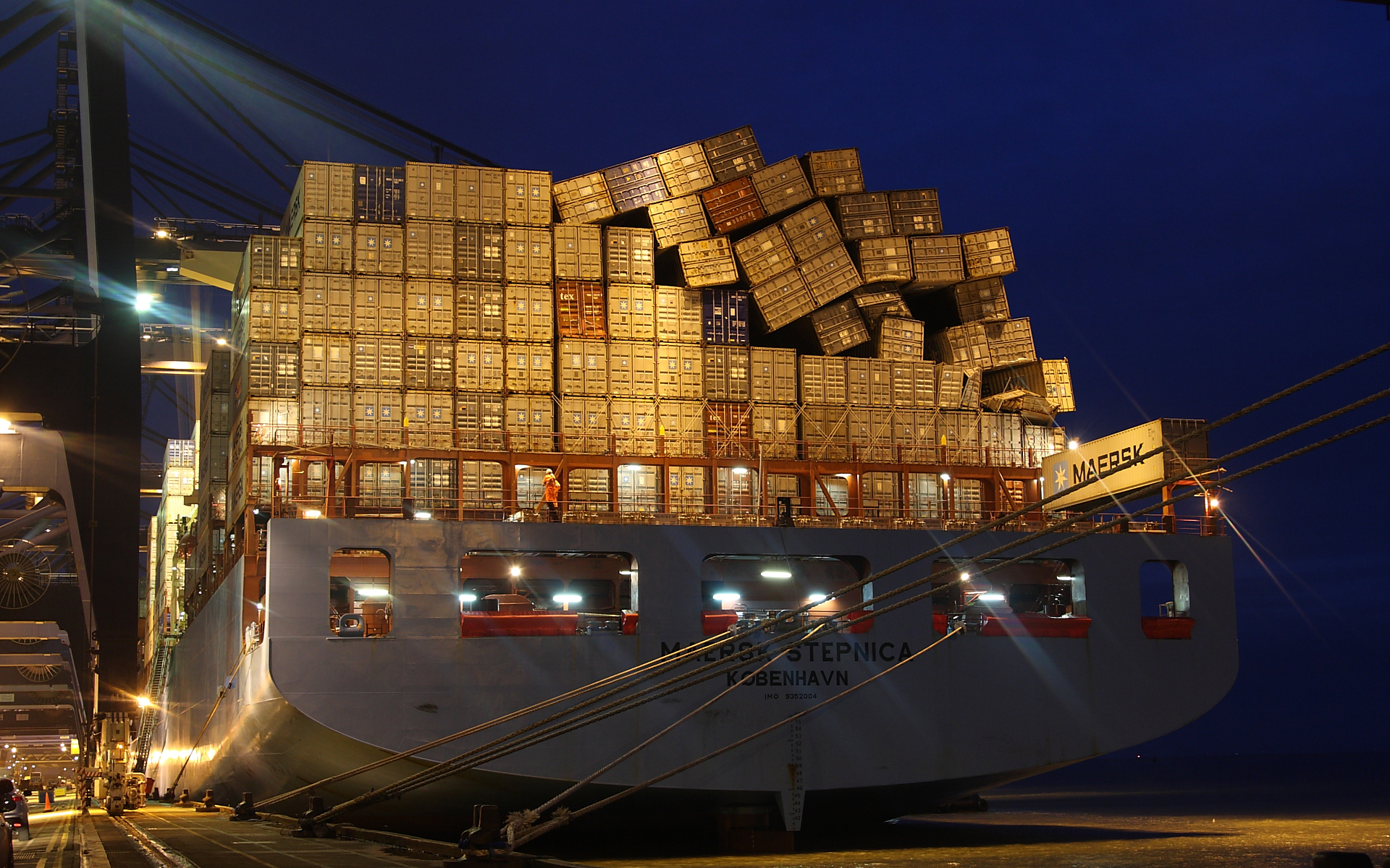 Vehicles - Container Ship  Wallpaper