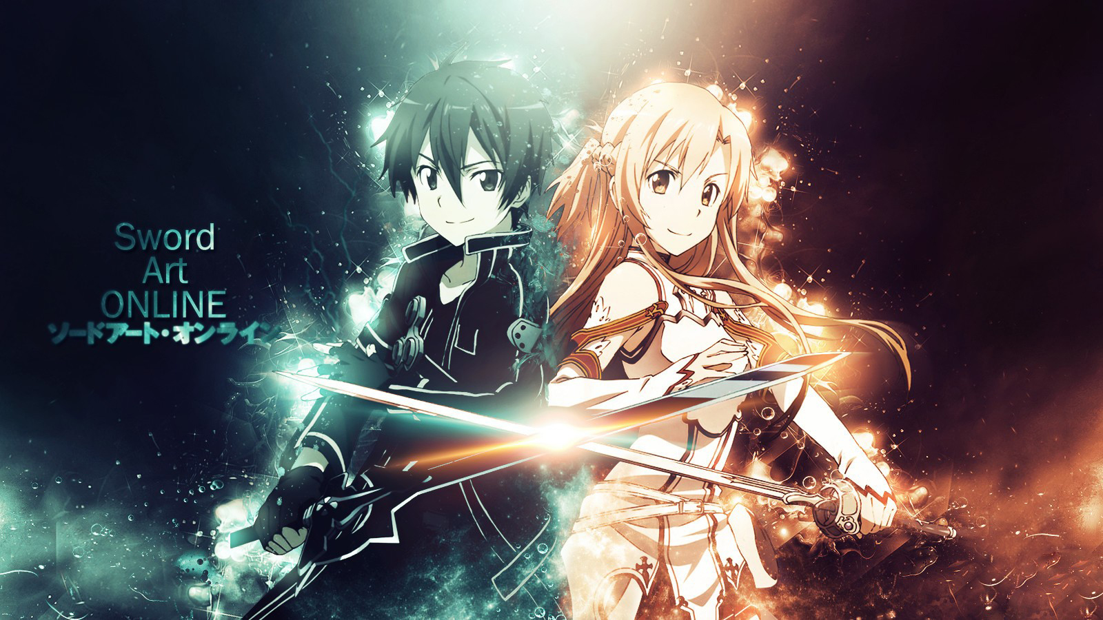 Sword Art Online Background: Kirito And Asuna Wallpaper And Background Image