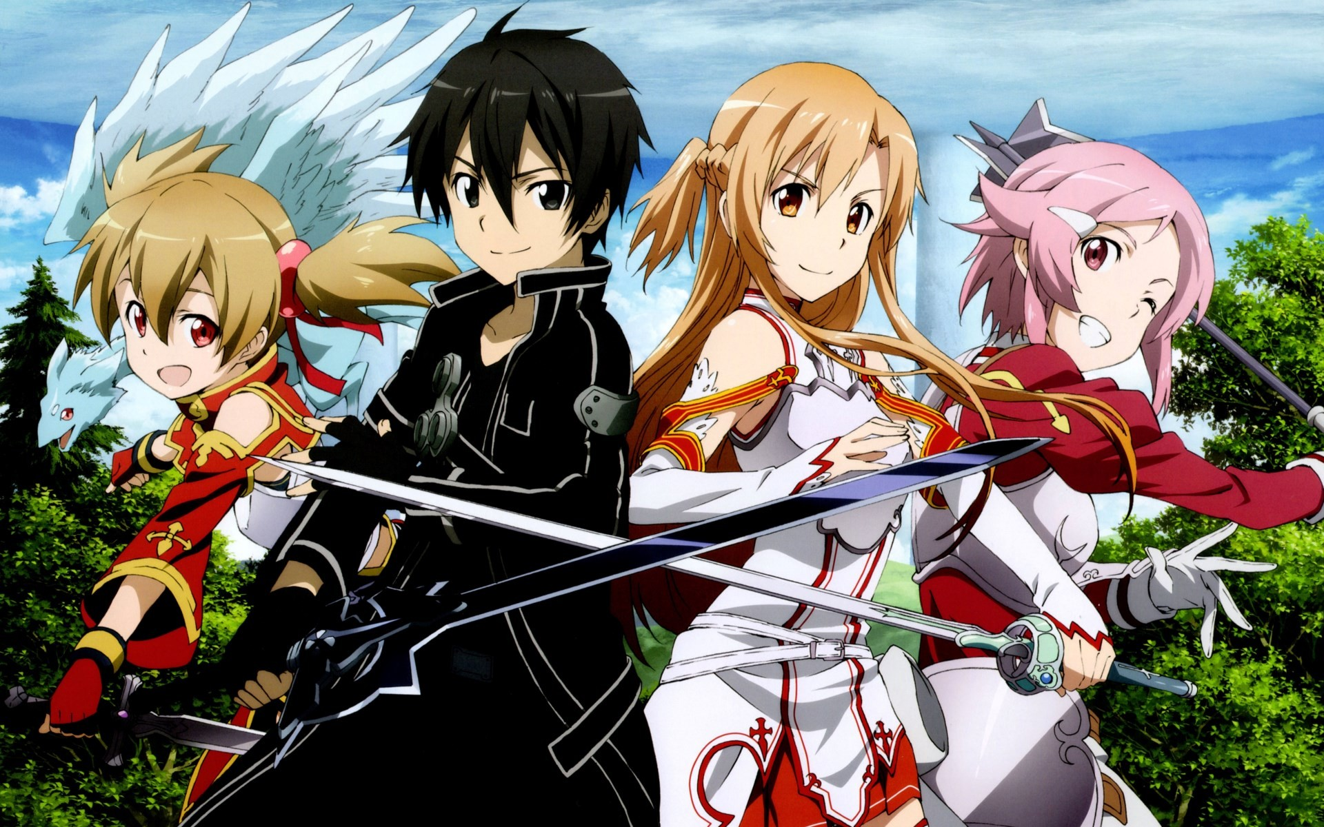 Silica,Kirito,Asuna and Lisbeth Full HD Wallpaper and ...