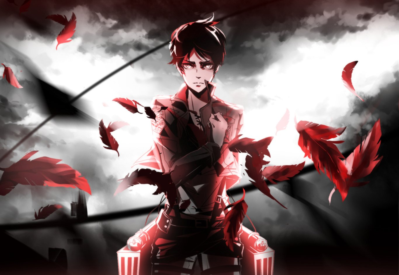 Attack On Titan Wallpaper And Background Image 1366x940 Id