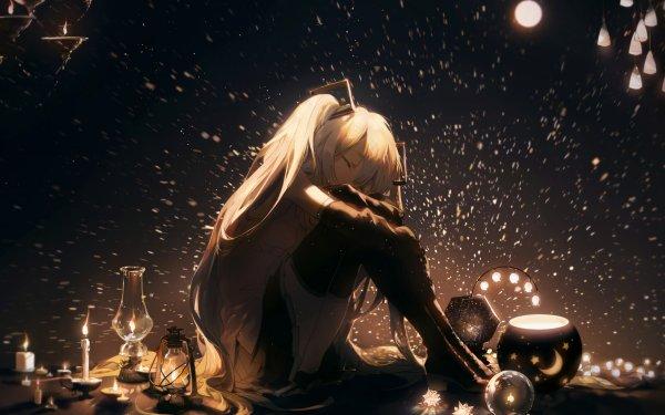 Anime Vocaloid Hatsune Miku Dark Light HD Wallpaper   Background Image